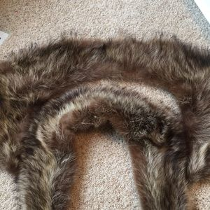 2 Raccoon Fur Collars